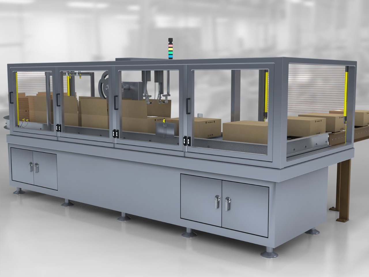 Case Sealer for Food Packaging