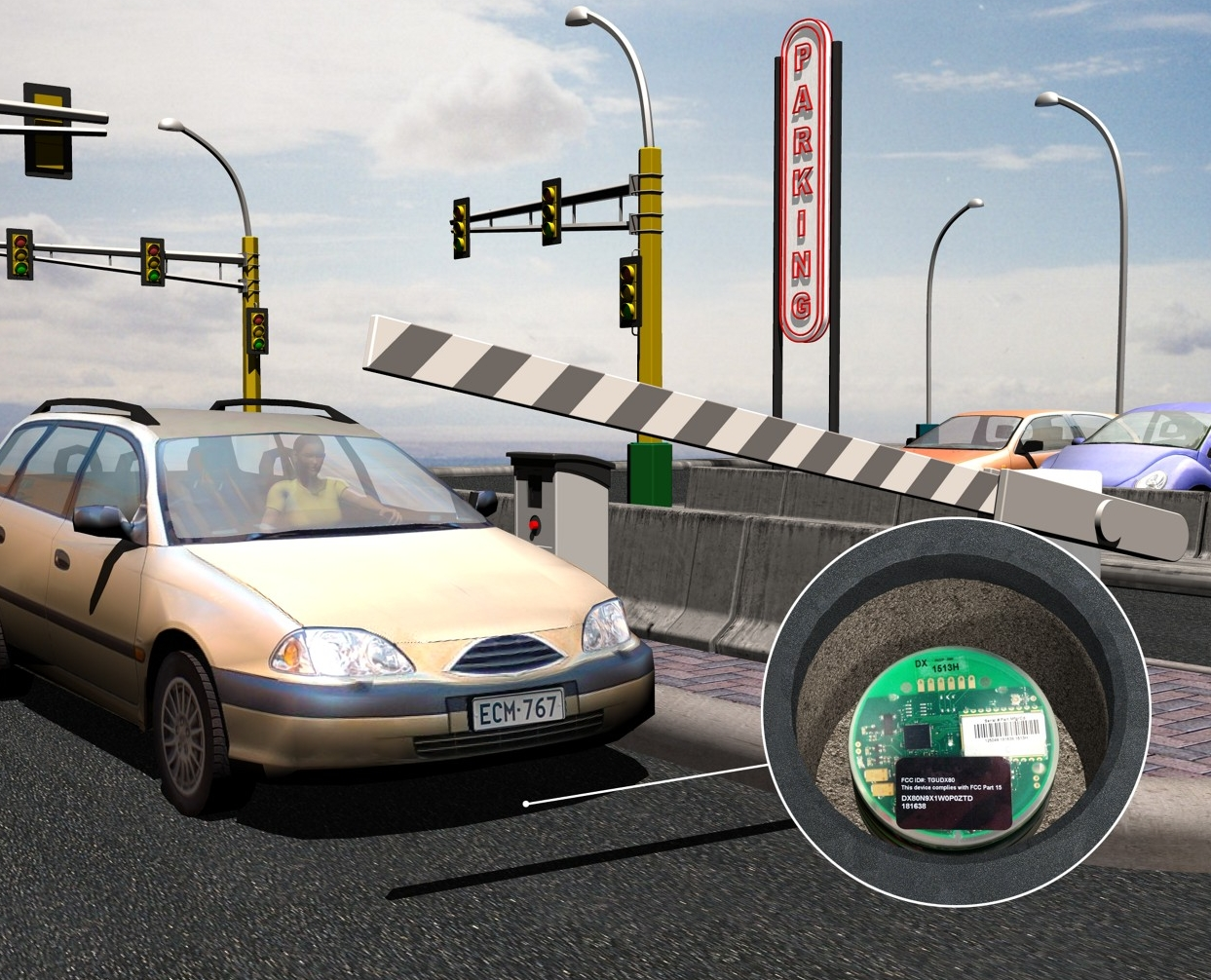 wireless magnetometer for vehicle detection in parking applications