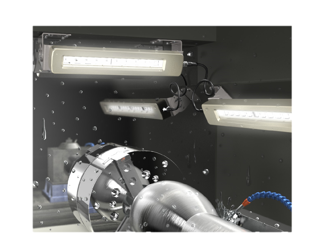 Cost-effective LED Lights Replace Fluorescent Fixtures in Machines