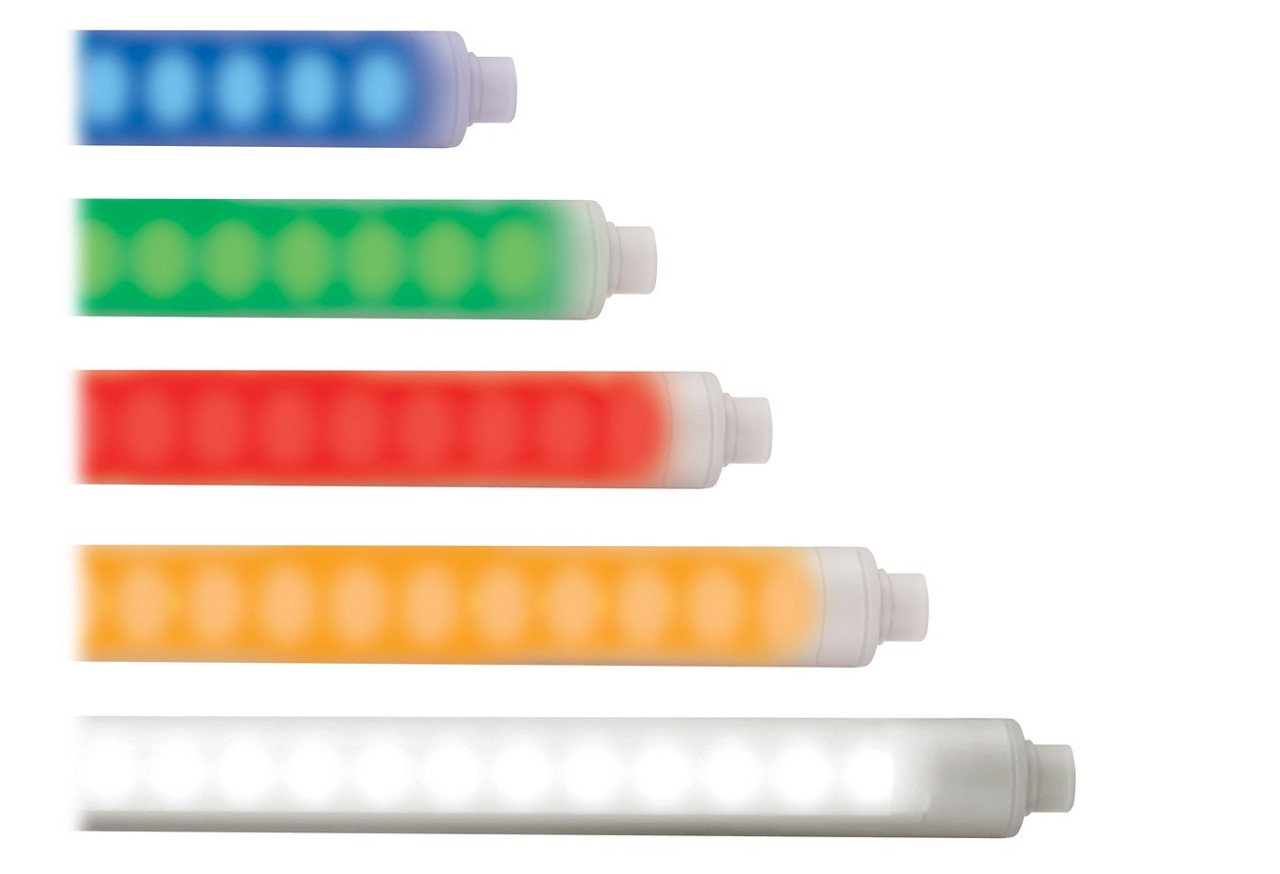 WLS28-2 and WLS27 Multicolor Strip Lights with Indication