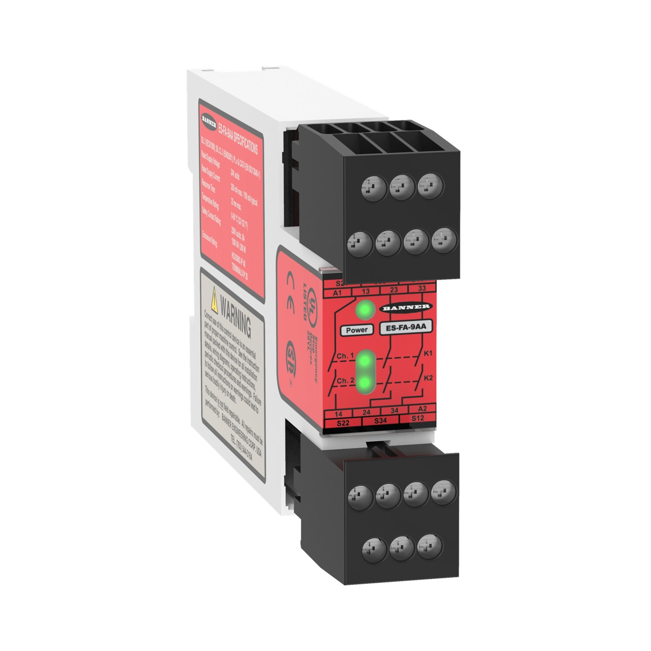 E-Stop & Guard Monitoring Safety Relays