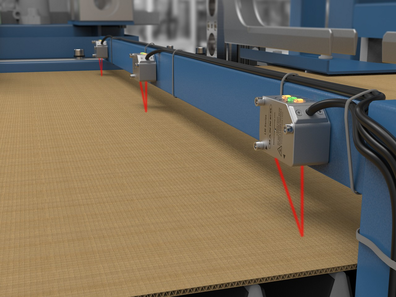 LM precision measurement sensor monitors cardboard thickness