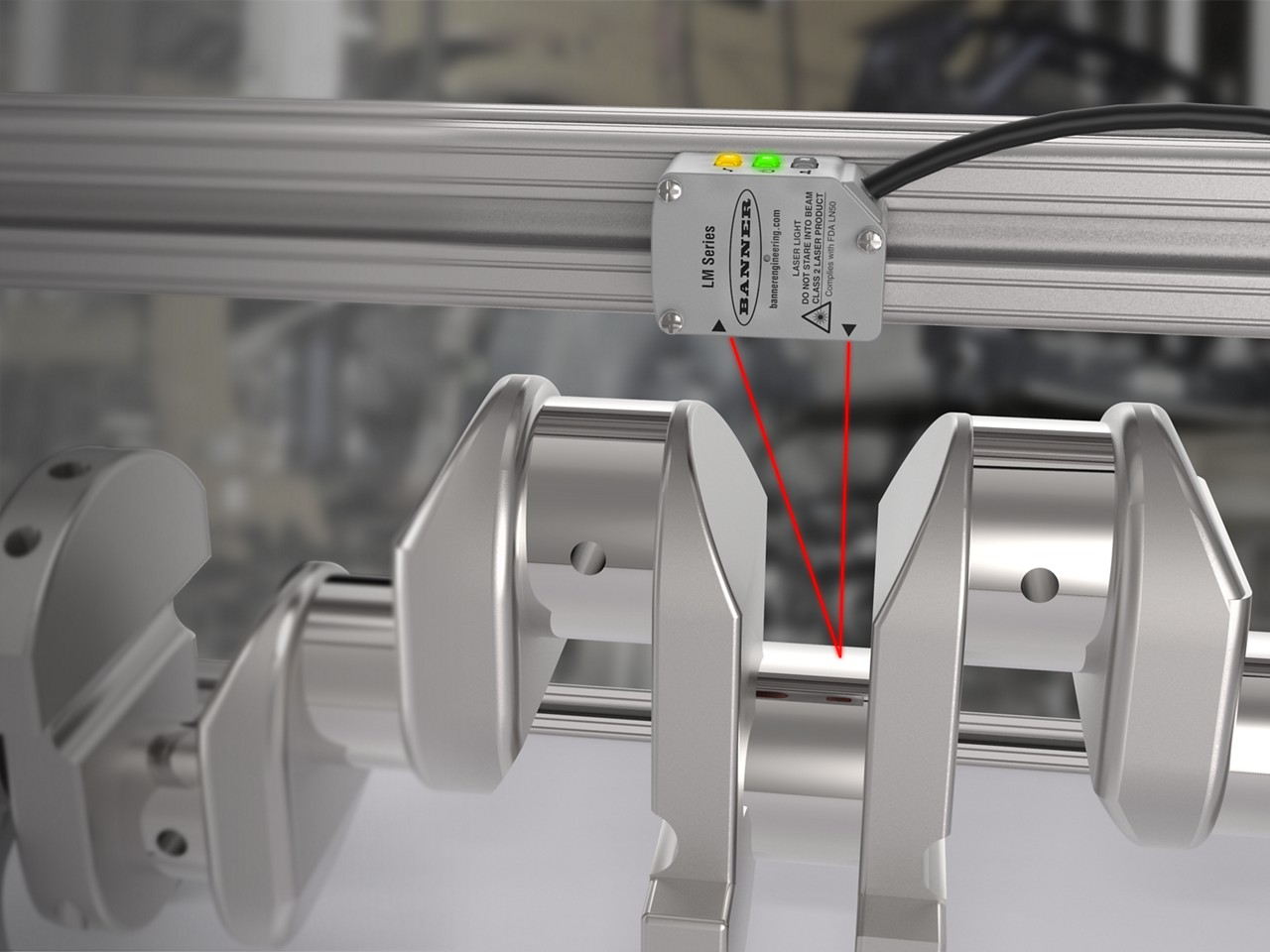 LM precision measurement sensor measures crankshaft runout