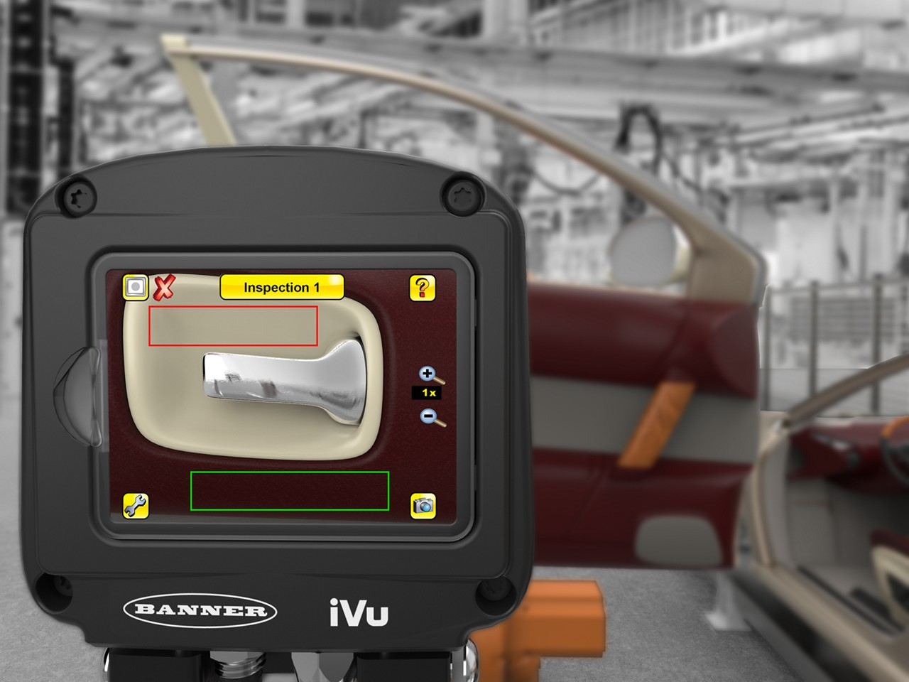 ivu color sensor detects the wrong color trim on a car door