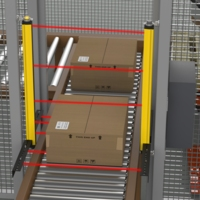 Guarding Conveyor Entry on Palletizer Machines