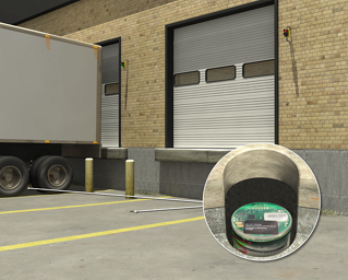 Detection and Indication of Vehicle Arrival at Loading Dock