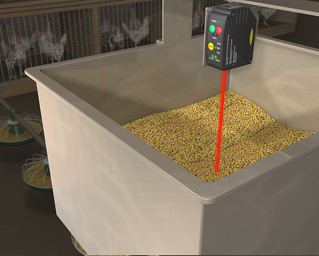 Fill Level of Dry Material in a Hopper