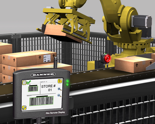 Robotic Cell Industrial Barcode Inspection