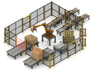 Safeguarding a Robotic Palletizer