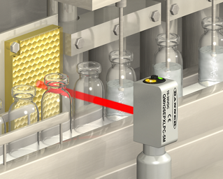 Hygienic Sensors for Glass Vial Detection in Harsh Chemical Environment