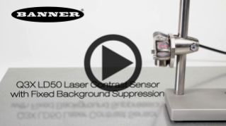 Q3X LD50 Laser Contrast Sensor with Fixed Background Suppression [Video]