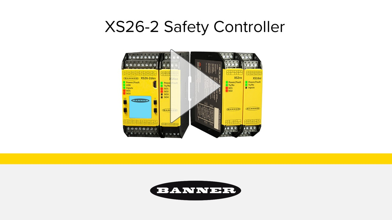 XS26 GUI Tutorial | Banner Banner Saftey Relay Wiring Example on