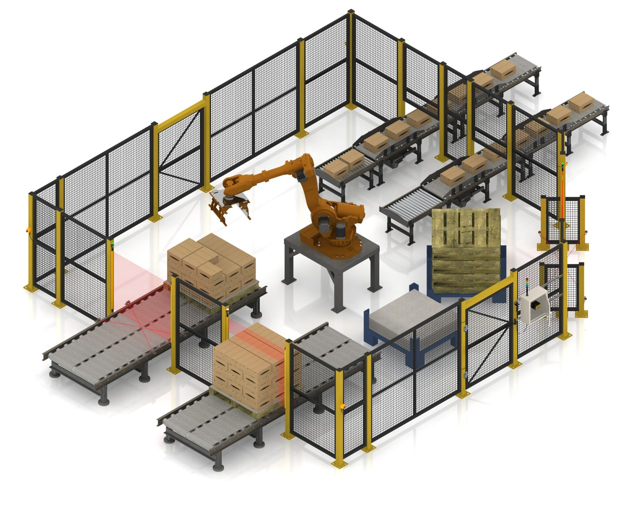 robot palletizing Robotworx sells new and reconditioned kuka palletizing robots at affordable prices.