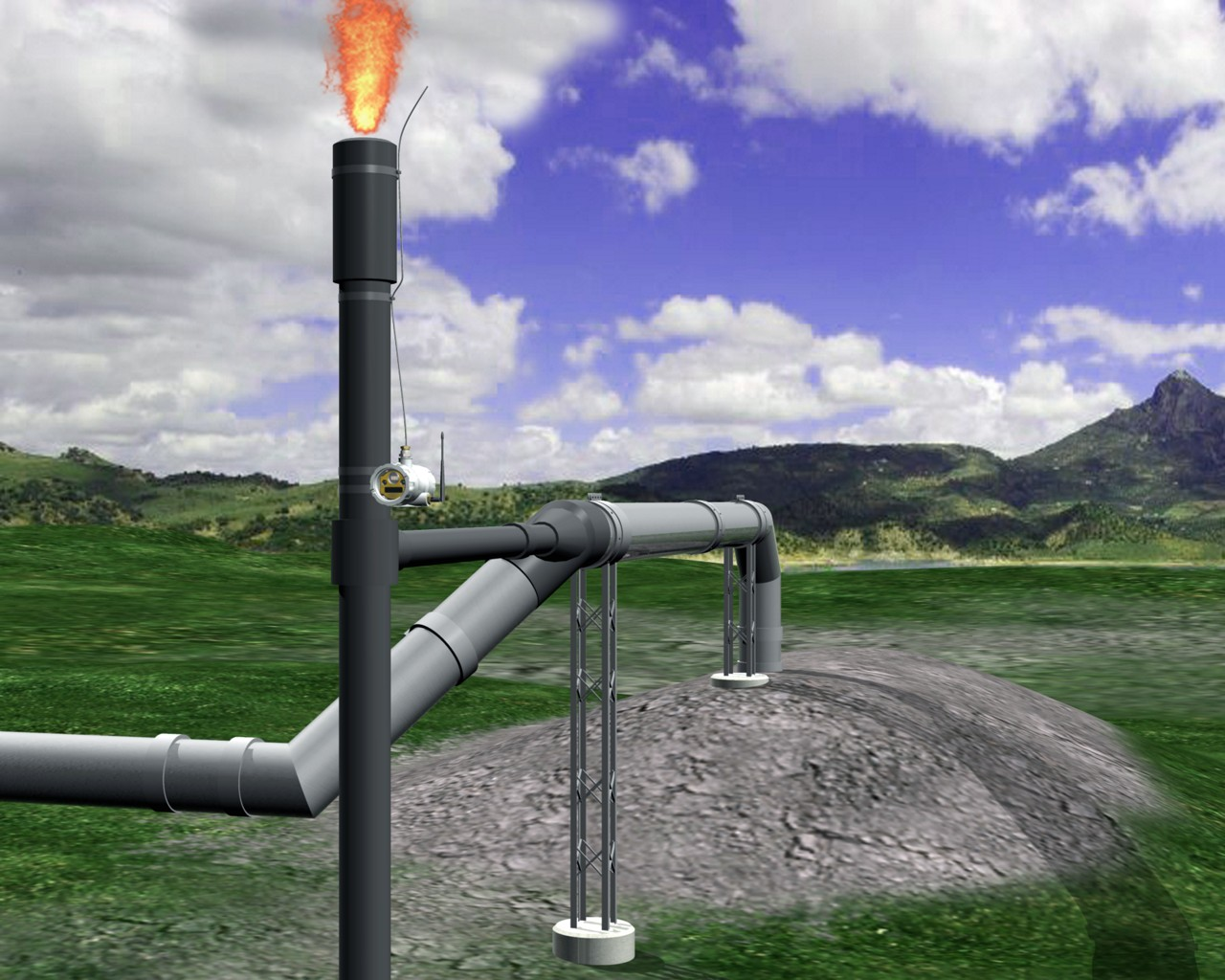 Landfill Methane Reclamation and Flare Stack Monitoring | Banner